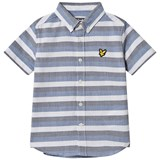 Lyle & Scott Blue Stripe Short Sleeve Shirt