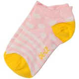 Melton Wild Rose and White Dots and Stripes Socks