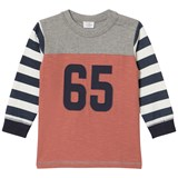 Hust&Claire Blue Red And Grey Long Sleeve T-Shirt