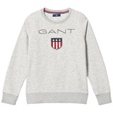 Gant Grey Marl Shield Logo Embroidered Sweatshirt