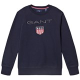 Gant Navy Shield Logo Embroidered Sweatshirt
