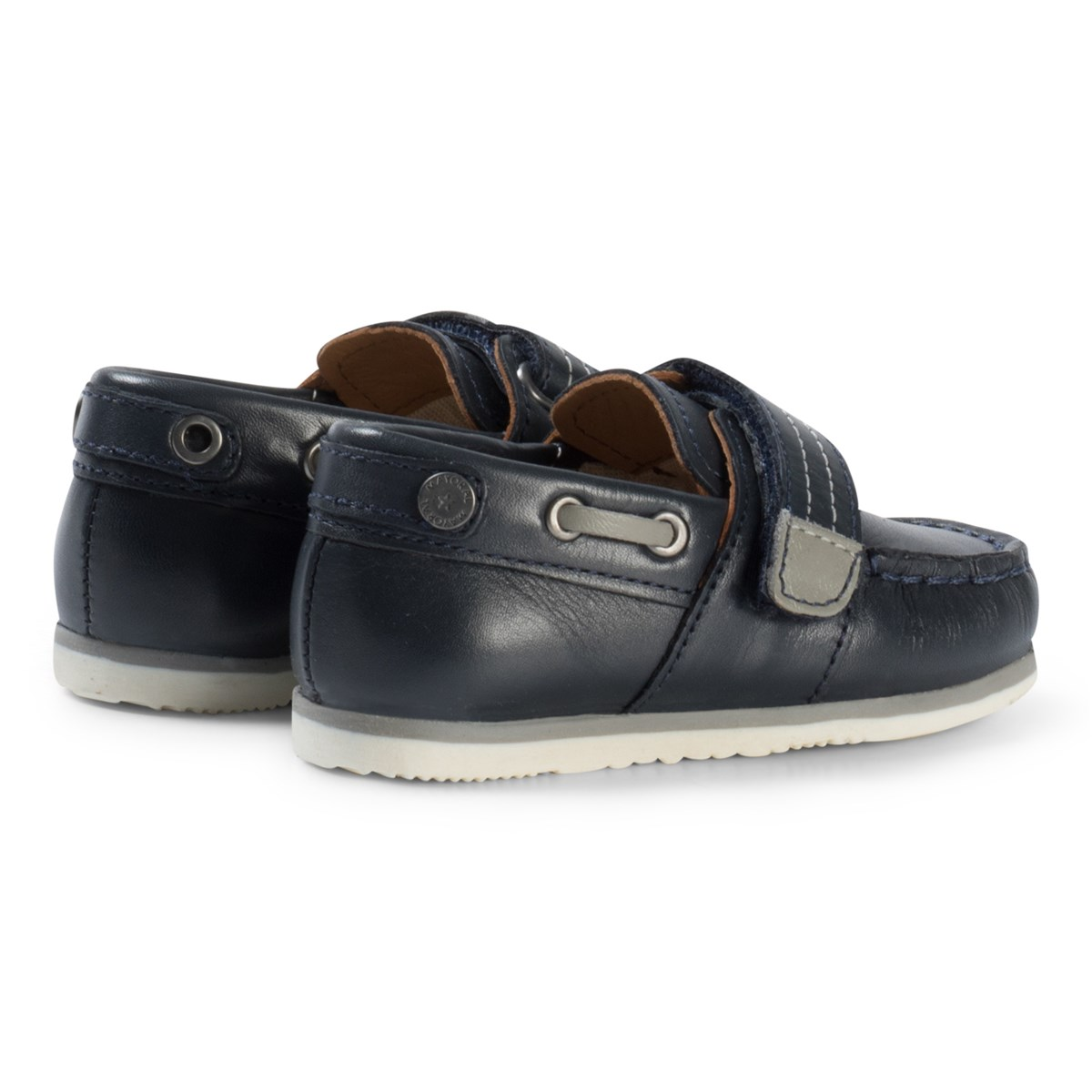 9873455b9056 Mayoral Navy Leather Velcro Boat Shoes