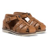 Mayoral Brown Leather Closed Toe Sandals