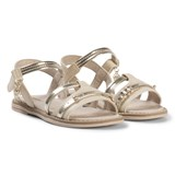 Mayoral Beige and Gold Patent Sandals