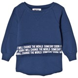 Someday Soon Blue Mateo Crewneck Sweater