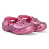 Crocs Kids Pink Sparkle Karin Clogs