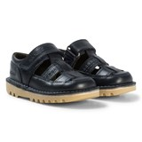 Kickers Navy Leather Kick Sandals