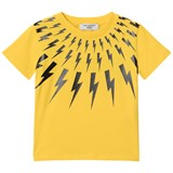 Neil Barrett Yellow Lightning Bolts Print Tee