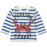 Stella McCartney Kids Blue and White Feeling Crabby Ted Tee