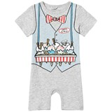 Stella McCartney Kids Grey Ice Cream Seller Kit Jersey Romper