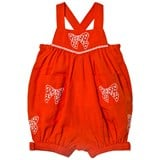 Stella McCartney Kids Red Bow Embroidered Gemini Romper