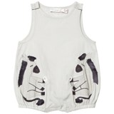 Stella McCartney Kids Grey Donkey Applique Mirabelle Romper