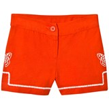 Stella McCartney Kids Red Kai Linen Embroidered Shorts