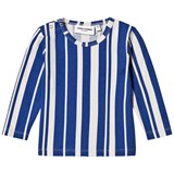 Mini Rodini Blue Odd Striped Tee