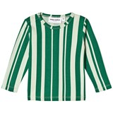 Mini Rodini Green Odd Stripe Tee