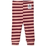 Mini Rodini Pink Stripe Rib Leggings