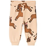 Mini Rodini Beige All Over Print Donkey Sweatpants