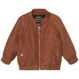 Mini Rodini Brown Draco Baseball Jacket