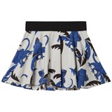 Mini Rodini White And Blue Draco Skirt