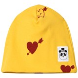 Mini Rodini Yellow Heart Rib Beanie