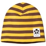 Mini Rodini Yellow Stripe Rib Beanie