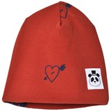 Mini Rodini Red Heart Rib Beanie