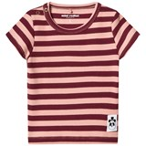 Mini Rodini Pink Striped Rib Tee