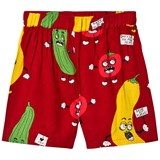 Mini Rodini Red Veggie Woven Shorts