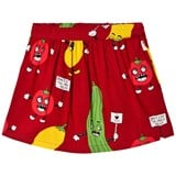 Mini Rodini Red Veggie Woven Skirt