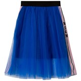 MSGM Royal Blue Logo Tulle Skirt