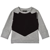 Papu Grey Melange and Black Fox Sweatshirt