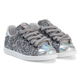 Victoria Glitter Lace Up Trainers