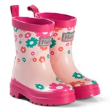 Hatley Pink Scattered Flowers Rain Boots
