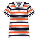 Timberland Kids Orange and Navy Stripe Polo
