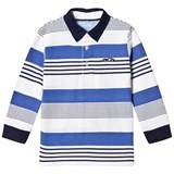 Mayoral Navy and Blue Stripe Long Sleeve Polo