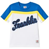 Franklin & Marshall White, Yellow and Blue Franklin Logo T-Shirt
