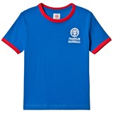 Franklin & Marshall Blue and Red Retro Logo Ringer T-Shirt