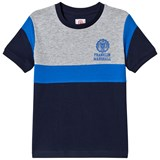 Franklin & Marshall Navy, Blue and Grey Colour Block Tee