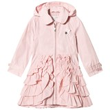 Le Chic Pink Ruffle Hooded Coat