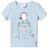 Le Chic Blue Glitter Dressing Table Print T-Shirt