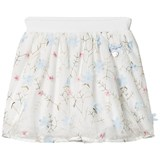 Le Chic Off-White Flora Embroidered and Applique Tulle Skirt