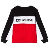 Converse Red and Black Colour Block Crew Sweatshirt