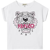 Kenzo Kids White Multi Embroidered Tiger T-Shirt