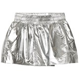 Kenzo Kids Silver Reflective Branded Skirt