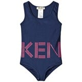 Kenzo Kids Navy and Pink Logo Swimsuit