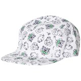 Kenzo Kids White and Navy Multi Tiger Print Five Panel Cap