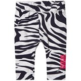 Kenzo Kids Grey and Navy Tiger Stripe Branded Leggings