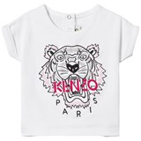 Kenzo Kids White Tiger Embroidered T-Shirt