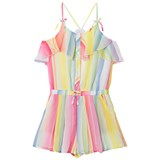Mayoral Multi Stripe Frill Playsuit