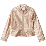 Mayoral Rose Gold Applique Biker Jacket